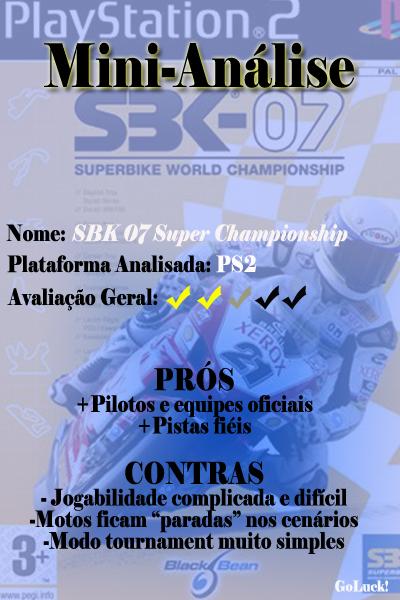 SBK 07 Super Championship - 2 Estrelas emeia