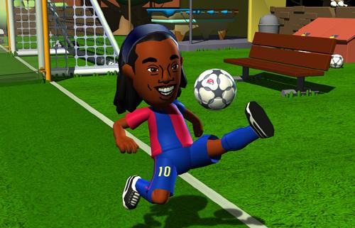 """O Mii do Ronaldinho conseguiuficar…her…bem…""""bunitinhu"""""""