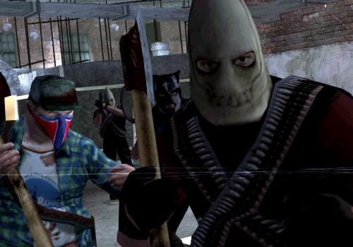 """Manhunt 2 é o atual """"causador de problemas"""" da indústria. Já foi banido de váriospaóes."""