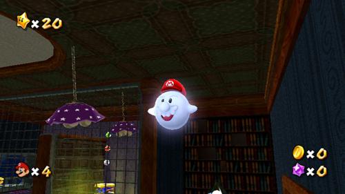 Olha só como a fantasia de Boo fica em Mario. O bigode éengraçado