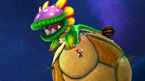 A piranha é um dos inimigos mais presentes em Galaxy. Até no espaço essas plantas carn�vorasnascem!